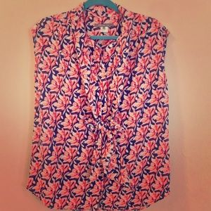 9fc73f3f343449 Pippa Silk Cap Sleeve Tie Neck Blouse